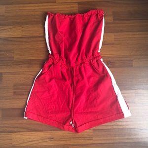 Red romper sleeveless